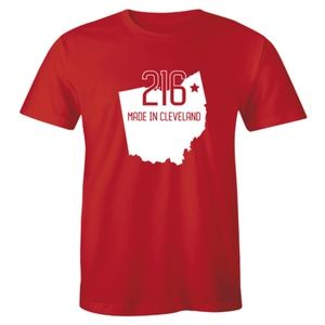 216 Made In Cleveland Ohio State Pride T-shirt Tee